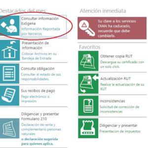 Consultar información para declaración de renta