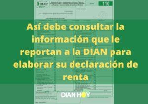 información para la declaración de renta