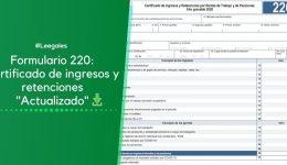 Certificado de ingresos y retenciones para los años 2021, 2020 y 2019