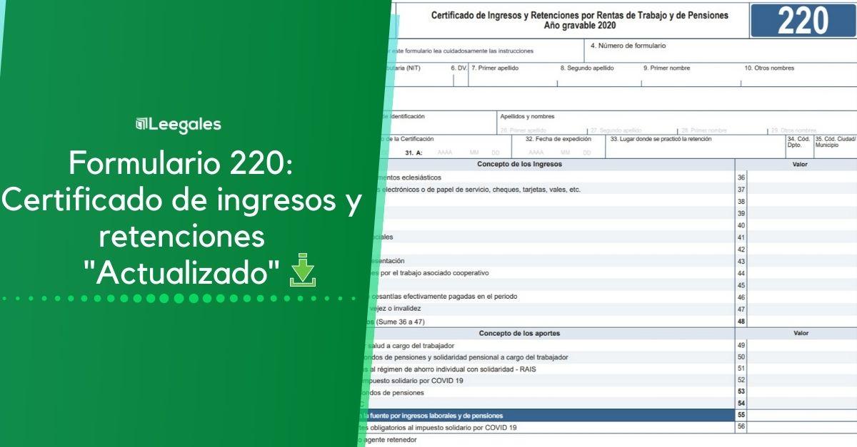 Certificado de ingresos y retenciones para los años 2021, 2020 y 2019 3