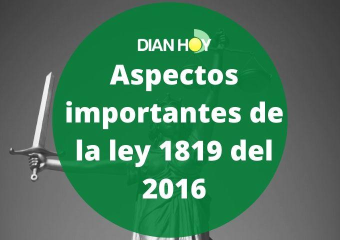 ley 1819 del 2016