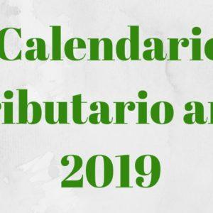 calendario tributario para el año 2019