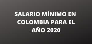 salario minimo para el año 2020