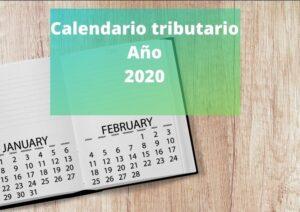 Calendario tributario del año 2020
