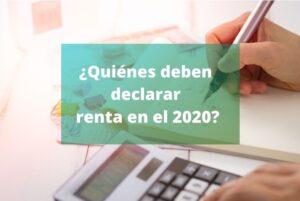 declaración de renta en el año 2020