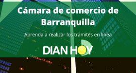 Cámara de comercio de Barranquilla: Trámites en línea