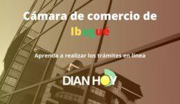 Cámara de comercio de Ibagué: Trámites en línea