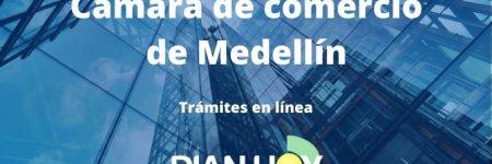 Cámara de comercio de Medellín: Trámites en línea