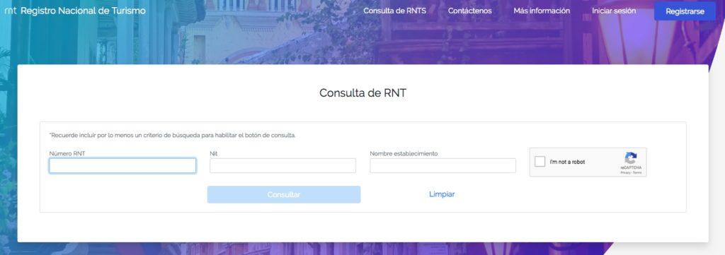 Consultas en el Registro Nacional de Turismo (RNT) 3