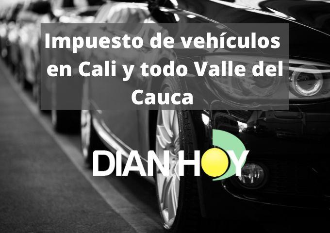Impuesto vehicular de Cali y Valle del Cauca 1
