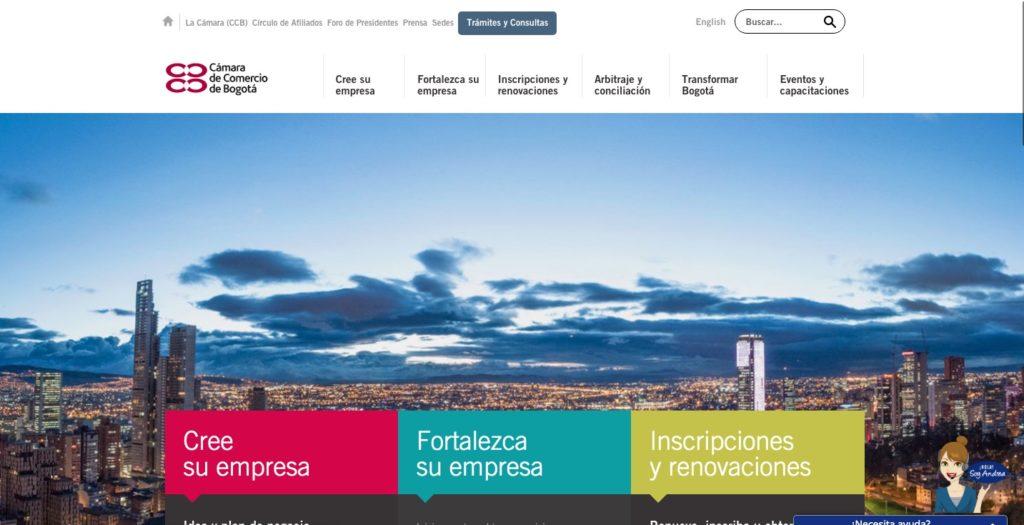 Cámara de comercio de Bogotá: Trámites y certificado 1