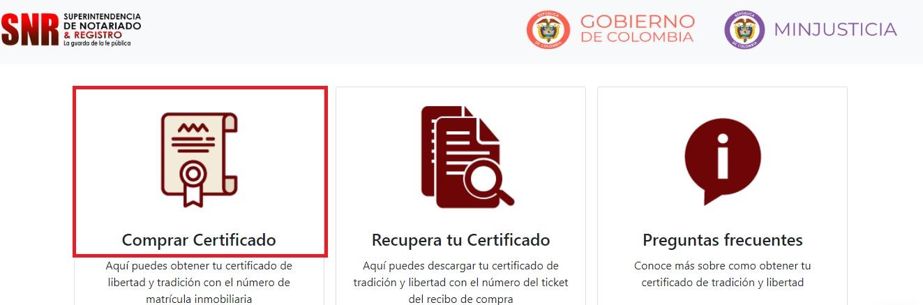 certificado de libertad