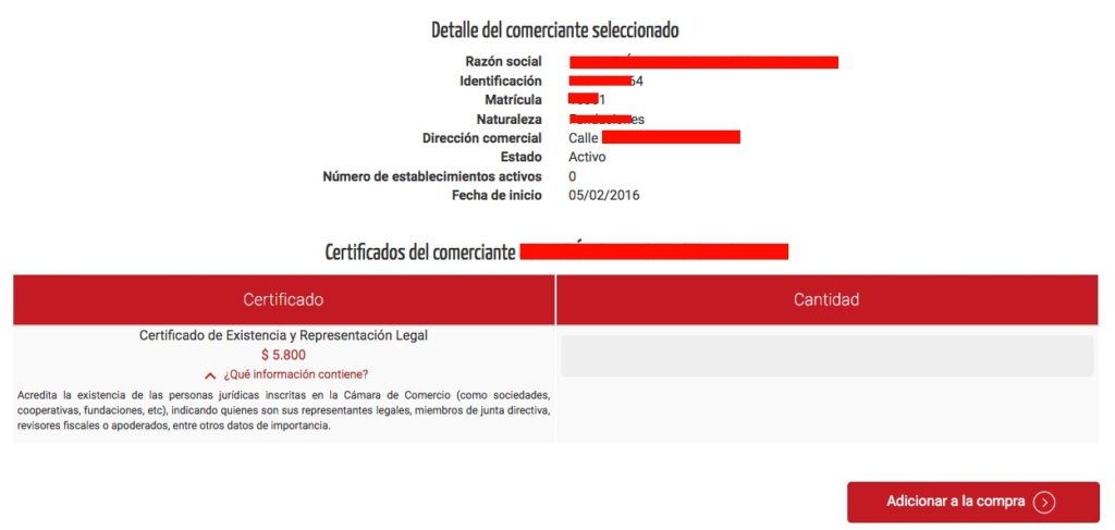 Cámara de comercio de Medellín: Trámites en línea 3