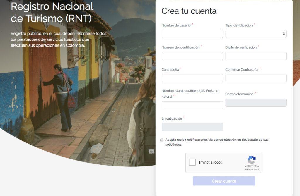 Consultas en el Registro Nacional de Turismo (RNT) 1