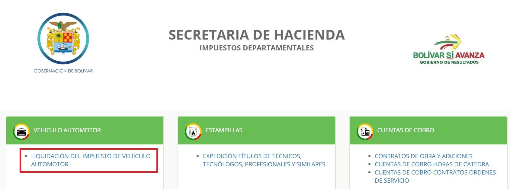 factura impuesto vehicular en bolivar