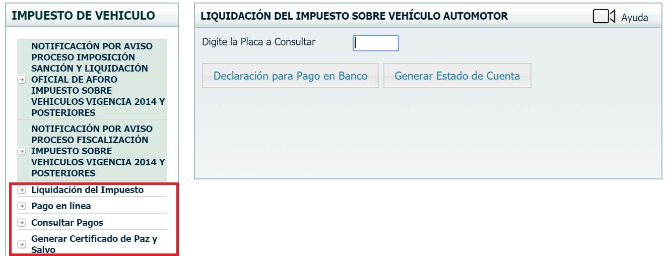 pago impuesto vehicular en bolivar