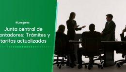 Junta Central de Contadores: Trámites y Tarifas