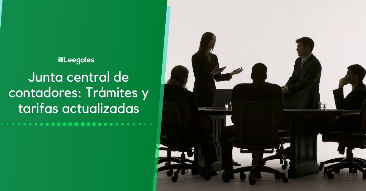 Junta Central de Contadores: Trámites y Tarifas 3