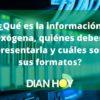 Información exógena: Todo lo que debe saber