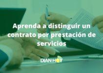 Contrato por prestación de servicios
