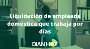 liquidación de empleada doméstica