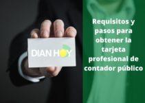 Solicitar la tarjeta profesional de contador público