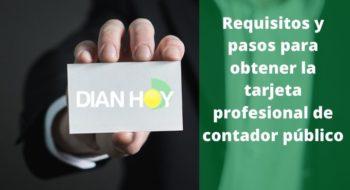 tarjeta profesional de contador público