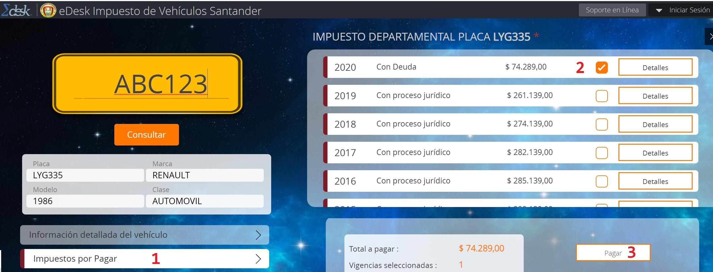 impuesto de vehículos de Santander