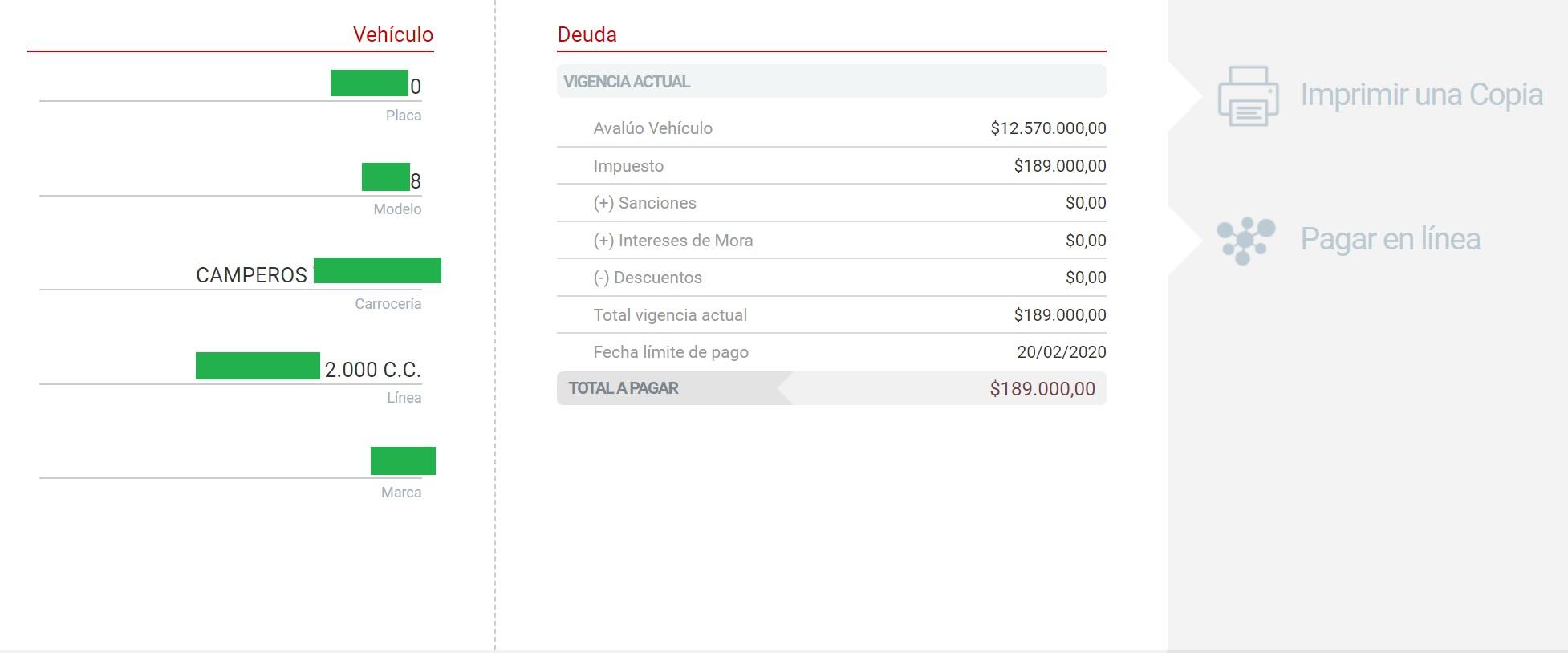 impuesto vehicular de atlantico