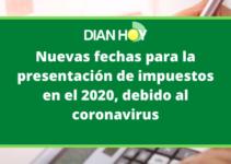 Cambios en el calendario tributario 2020 a causa del coronavirus