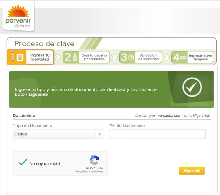 registro portal porvenir