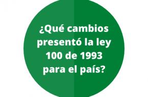 Lo más importante de la ley 100 de 1993