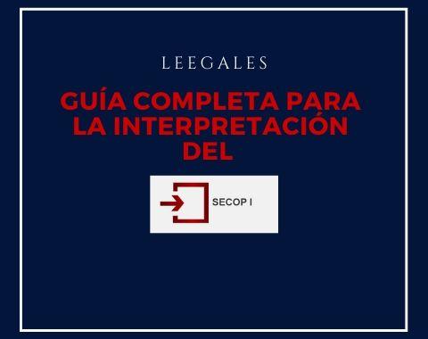SECOP I: Guía de uso completa 1