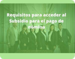 subsidio para el pago de nomina