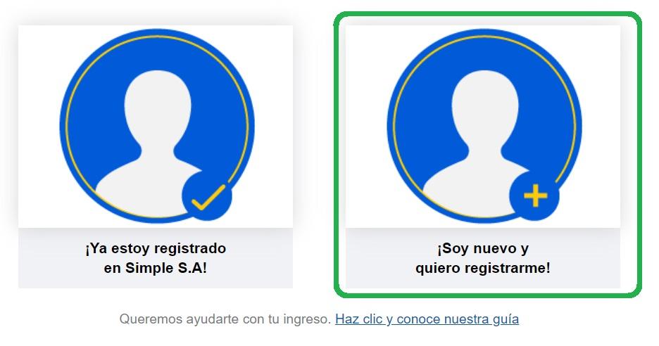 pago simple registro en línea