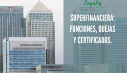 Superfinanciera: Sanciones, quejas y certificados