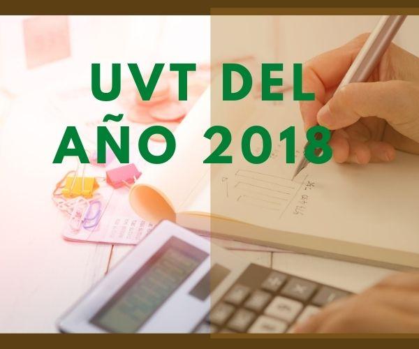 UVT del año 2018