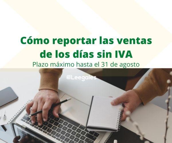 Reporte de ventas del tercer día sin IVA 1