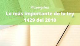 Resumen de la ley 1429 del 2010