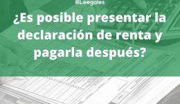 Presentación declaración de renta sin pago