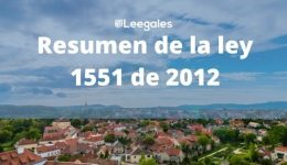 """Ley 1551 de 2012 """"Lo más importante"""""""