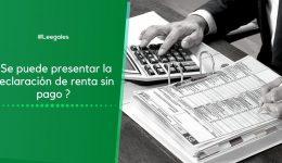 Presentación de la declaración de renta sin pago