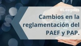 Modificaciones en el PAP y el PAEF: Lo que debe saber de la ley 2060