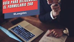 Guía para diligenciar el formulario 260 Declaración Anual Consolidada