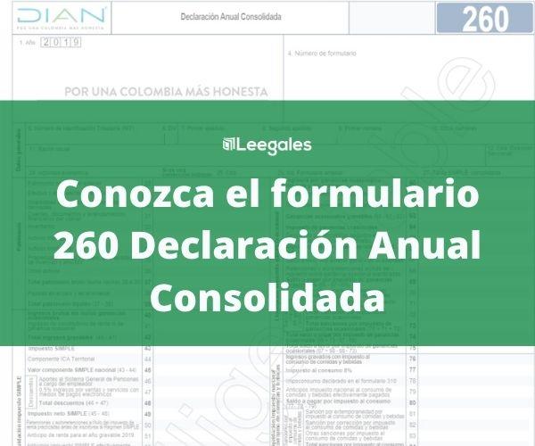 formulario 260 regimen simple