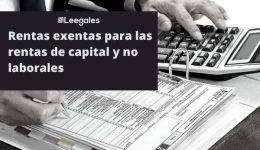 Rentas exentas para las rentas de capital y no laborales