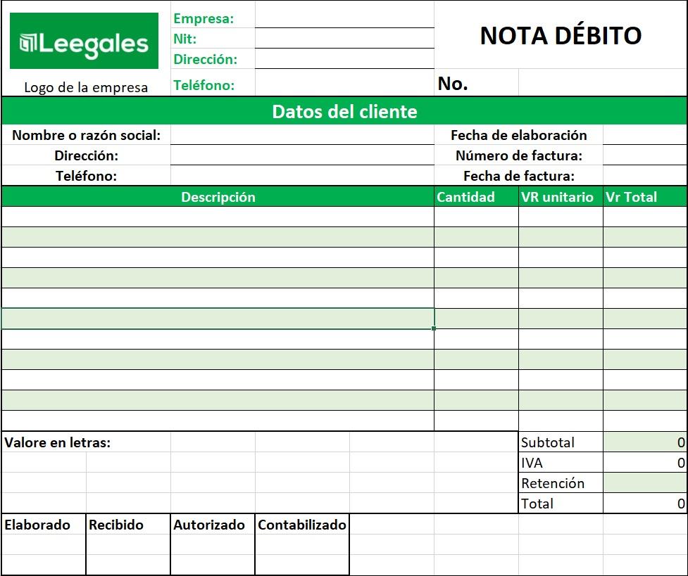 nota débito