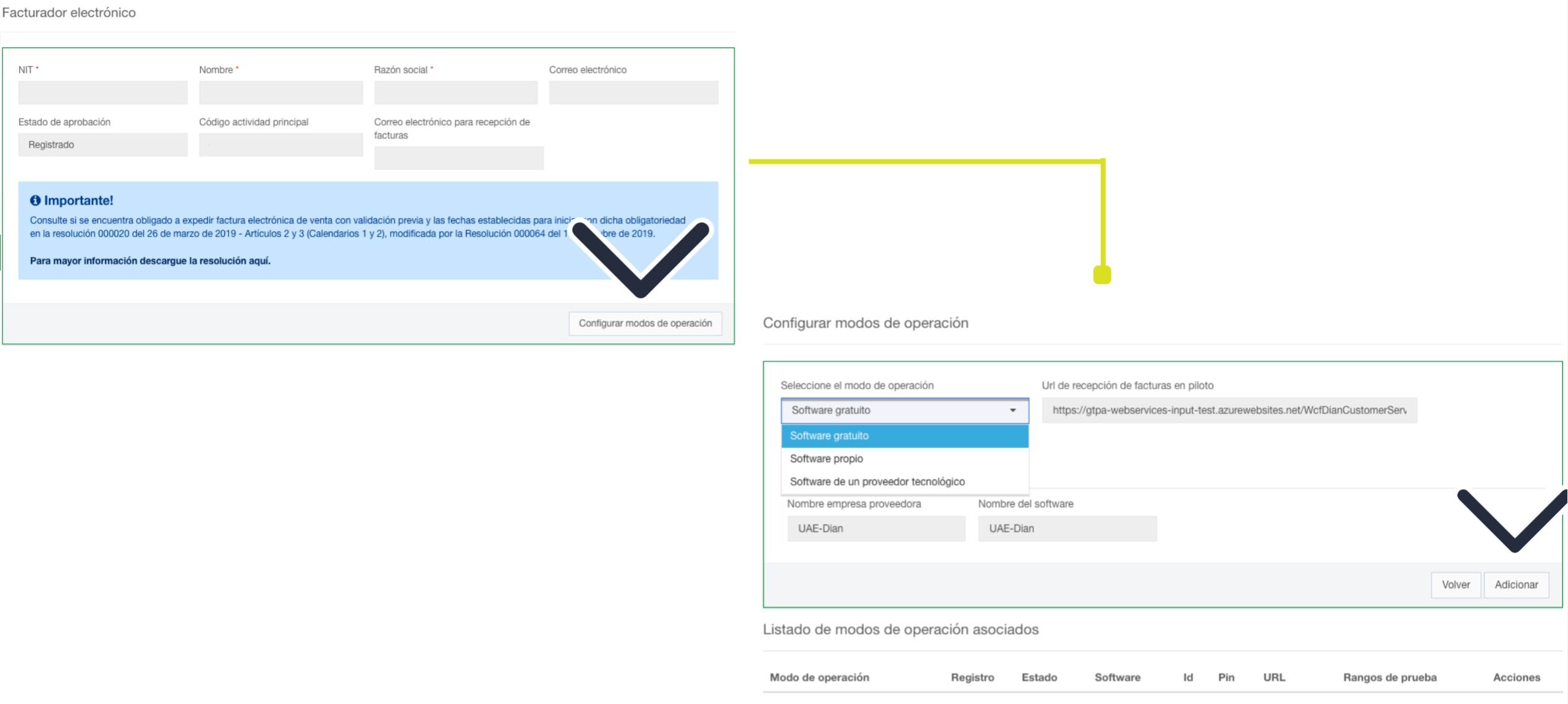 registro sistema de facturación electronica gratuita de la dian