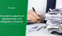 Documento soporte en adquisiciones a no obligados a facturar