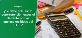 Autorretención especial de renta por aportes del PAEF